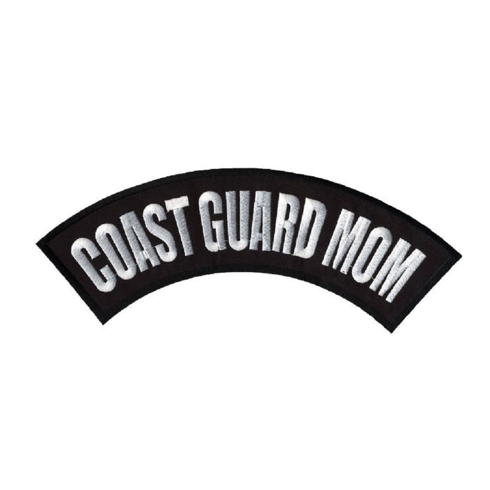 "Motorcycle Biker Uniform Patch 10"" x 2.25"" Coast Guard Mom Large Rocker Bar"
