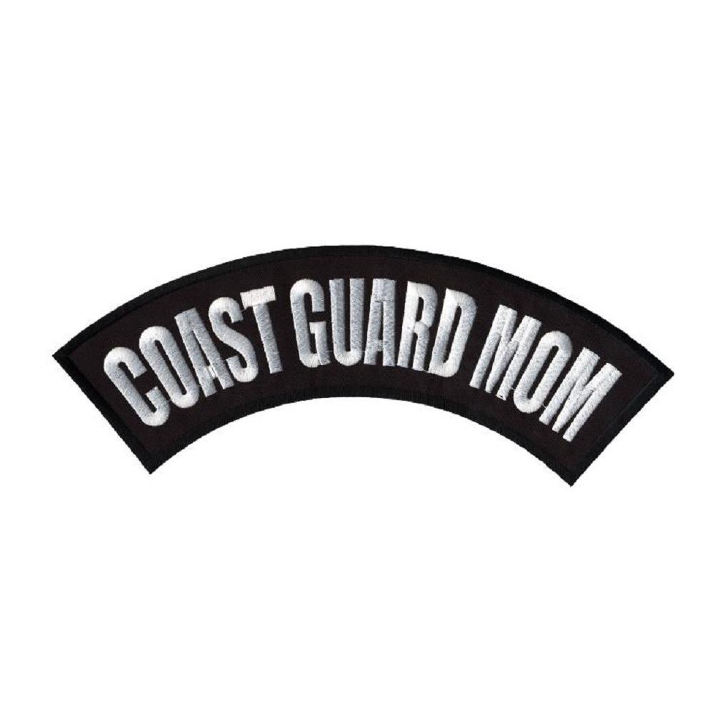 "Motorcycle Biker Uniform Patch 10"" x 2.25"" Coast Guard Mom Large Rocker Bar"