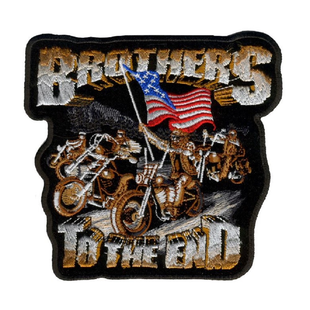 "Motorcycle Biker Uniform Patch 10.5"" x 11"" Brothers till the End"