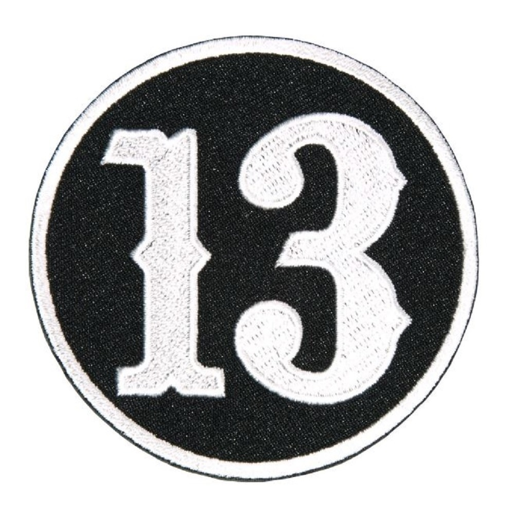 "Motorcycle Biker Uniform Patch 3"" x 3"" Circle Lucky Number 13"