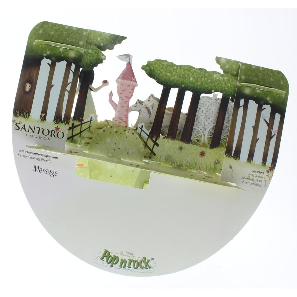 Santoro 3D Princess Greeting Card Pop-Up and Rock Popnrock