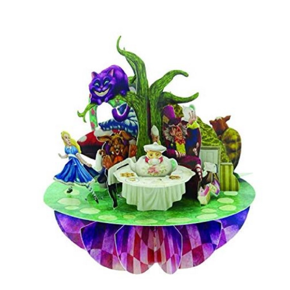 Santoro 3D Pirouettes Alice in Wonderland Cheshire Cat Mad Hatter
