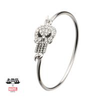 Inox Jewelry Punisher Stainless Steel Bangle Bracelet