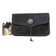 Western Inspired Montana West Purse Genuine Tooled Leather Cross Body Purse
