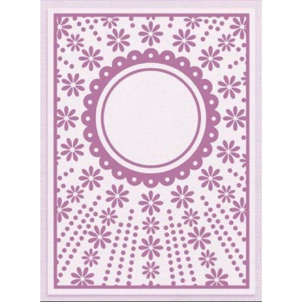 Crafter's Companion Embossing Folder Daisy Trail Embossing Folder 5 x 7
