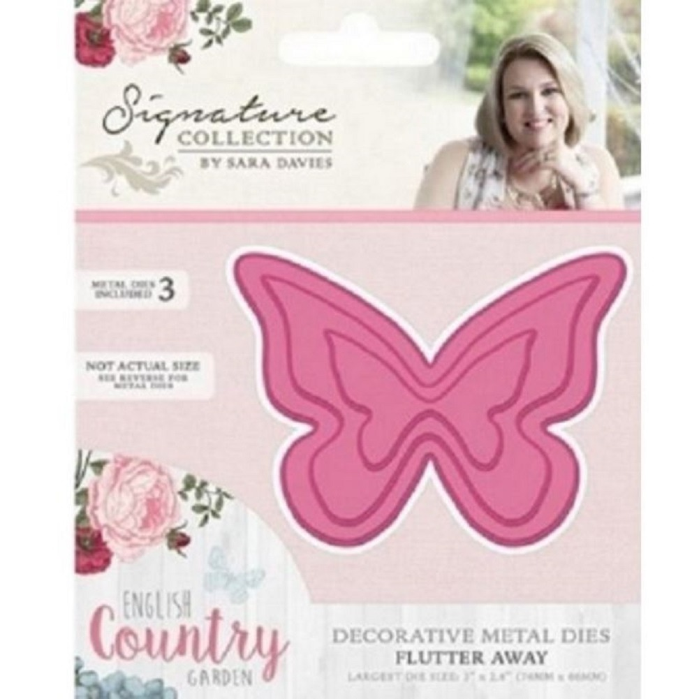 Crafter's Companion Flutter Away Metal Die Cut English Country Butterfly Garden
