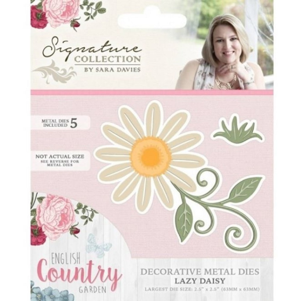 Crafter's Companion Lazy Daisy Floral Flower Metal Die Cut English Country