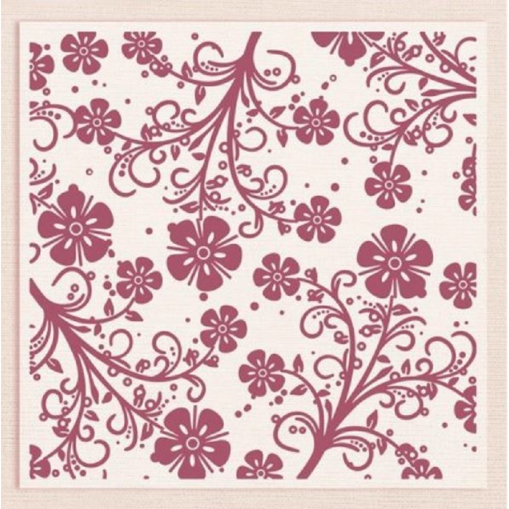Crafter's Companion Embossing Folder Floral Swirls Delight 6 x 6