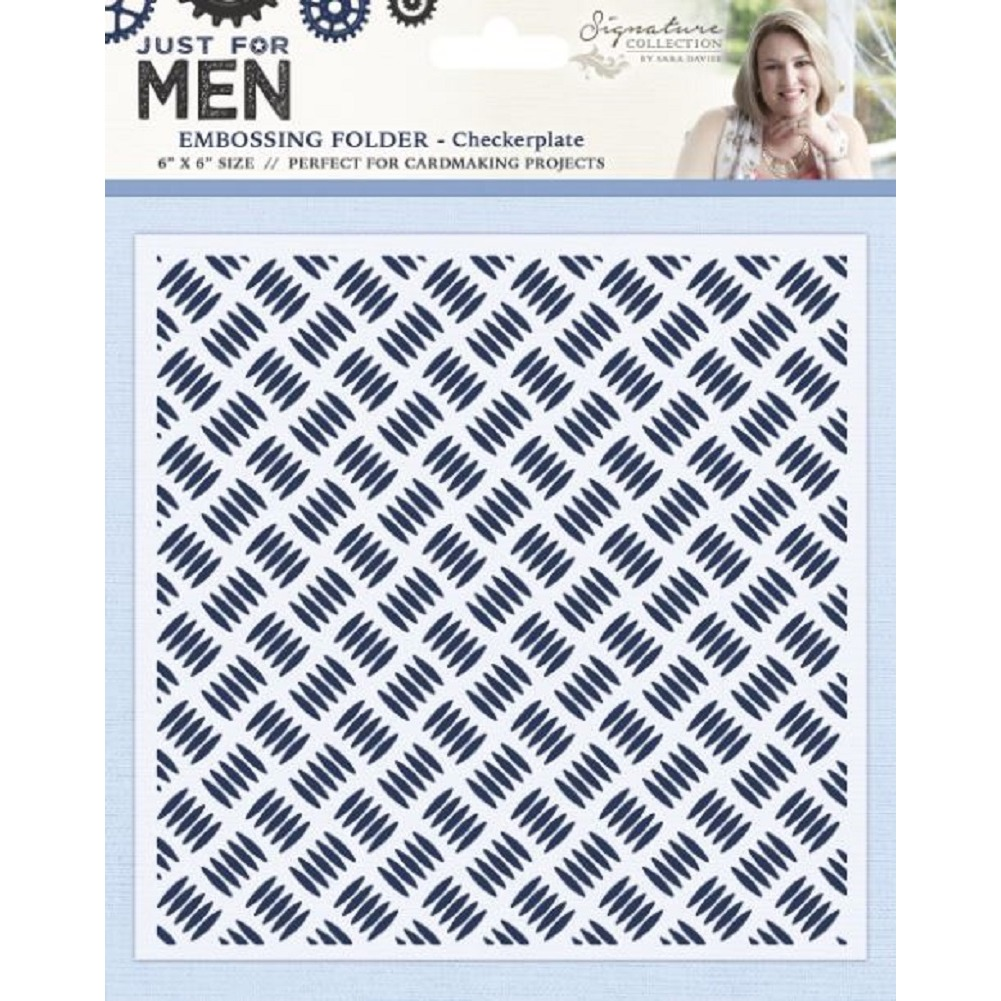 Crafter's Companion Signature Embossing Folder Checkerplate Just for Men 6 x 6
