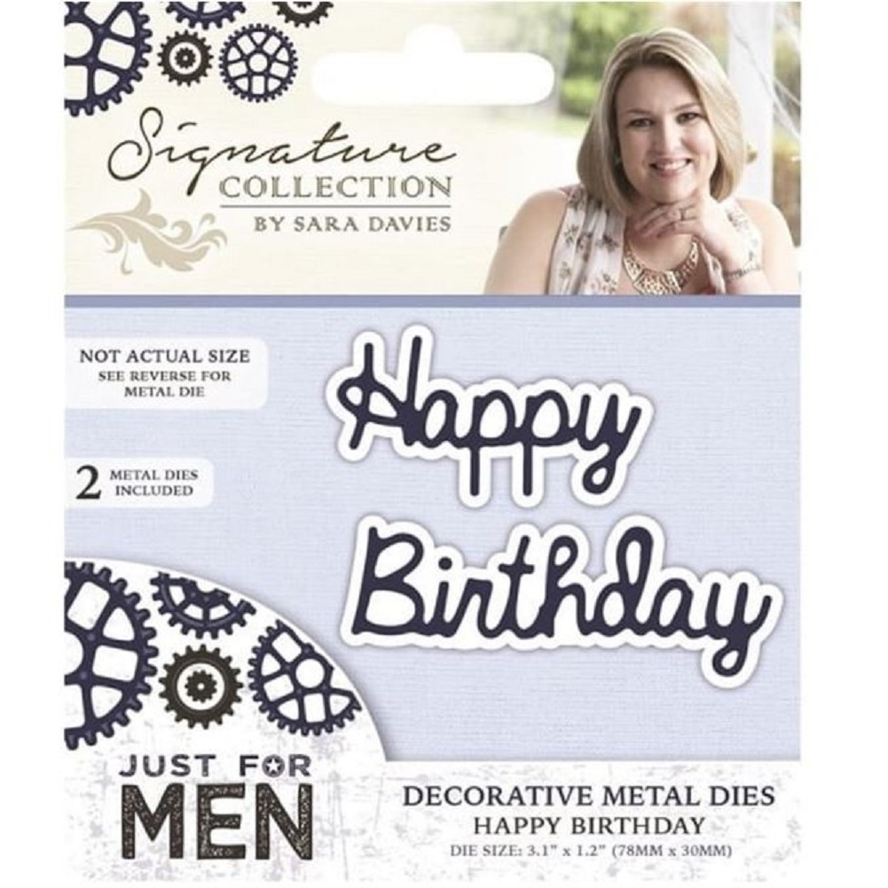 Crafter's Companion Happy Birthday Metal Die Cut Just for Men Collection
