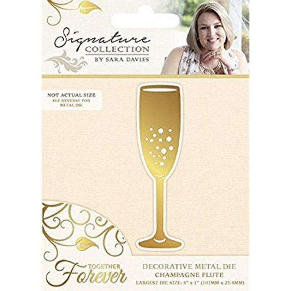 Crafter's Companion Champagne Flute Metal Die Cut Together Forever