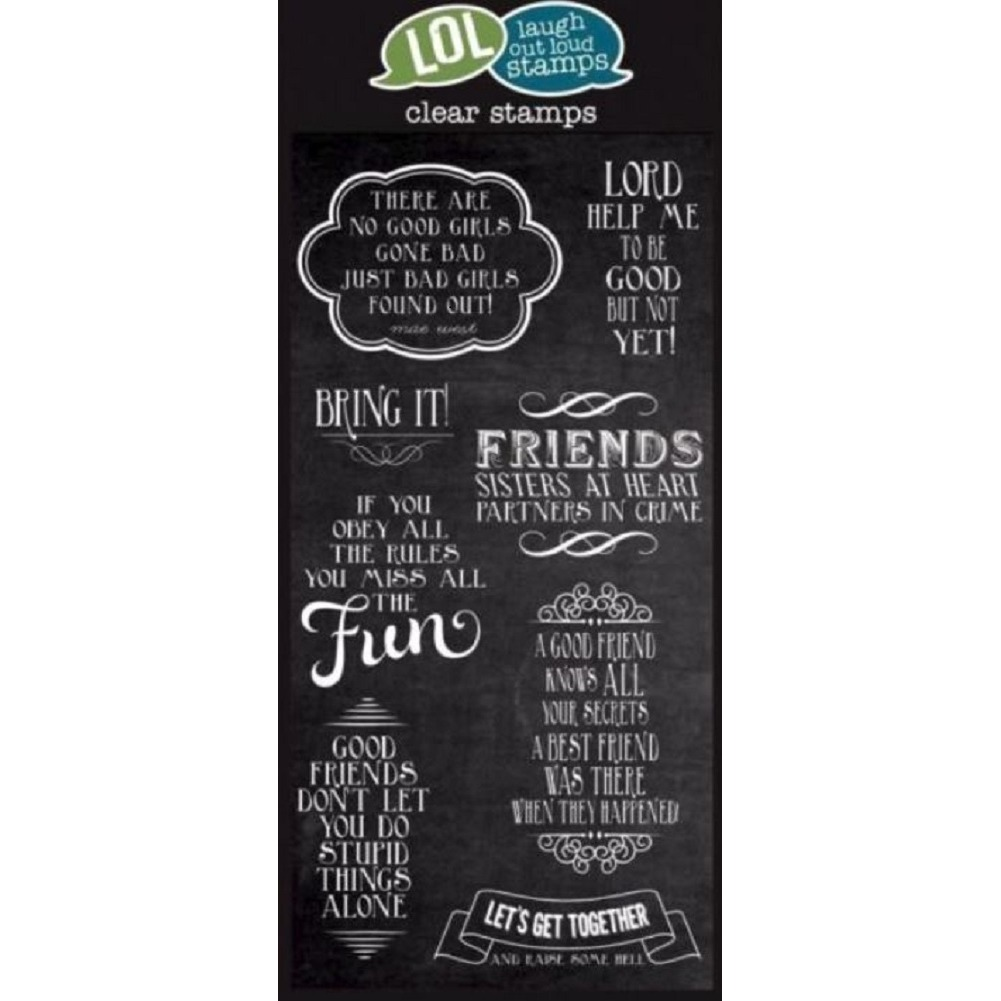Lol Clear Stamps Friends Sisters at Heart Sentiment Clear Cling Rubber Stamp Set
