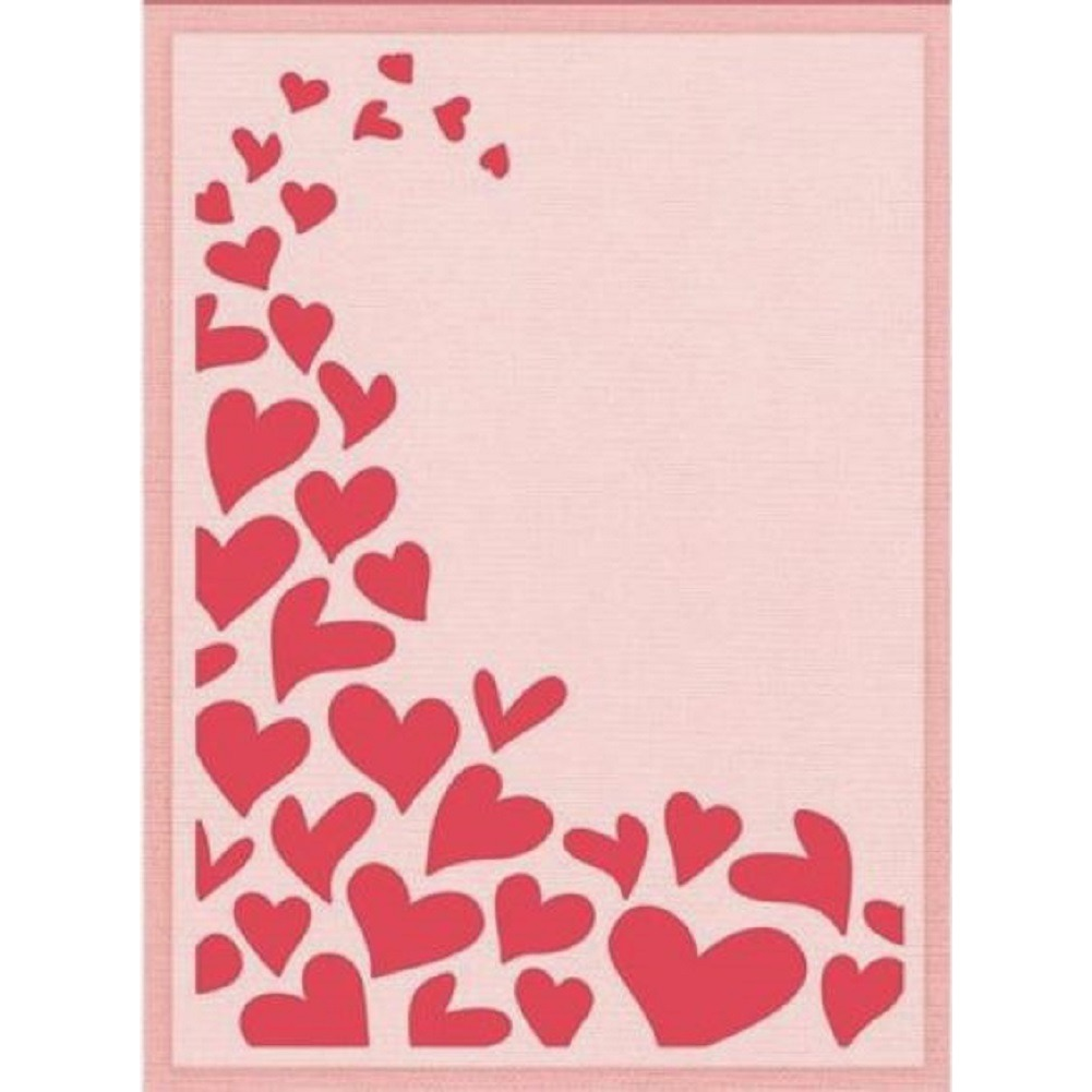 Crafter's Companion Embossing Folder Fluttering Hearts Embossing Folder 5 x 7