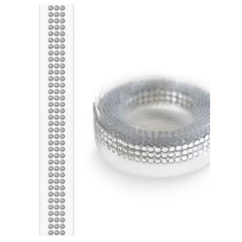 Forever in Time Paper Craft Bling Tape Roll Self Stick 2mm stones