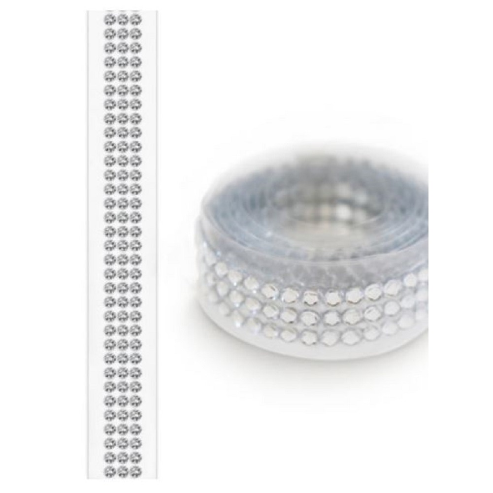 Forever in Time Paper Craft Bling Tape Roll Self Stick 3mm stones