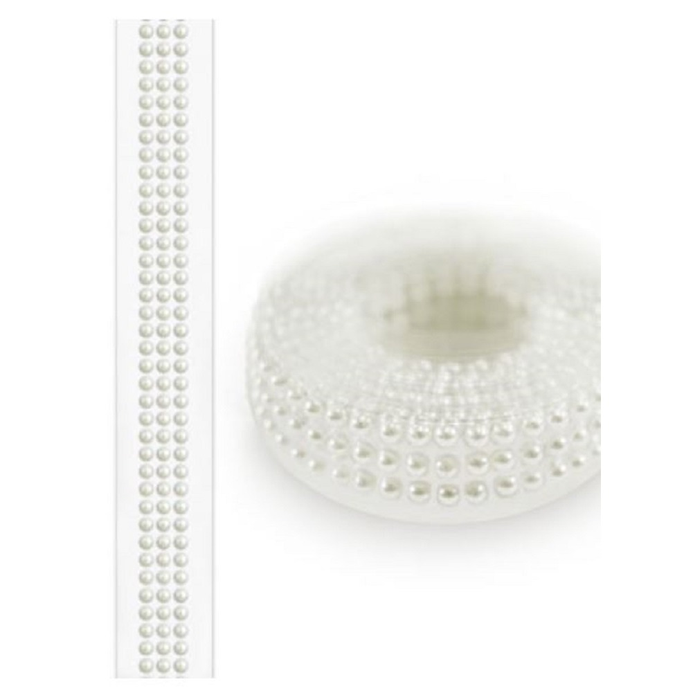 Forever in Time Paper Craft Bling Tape Roll Self Stick 3mm pearl beads