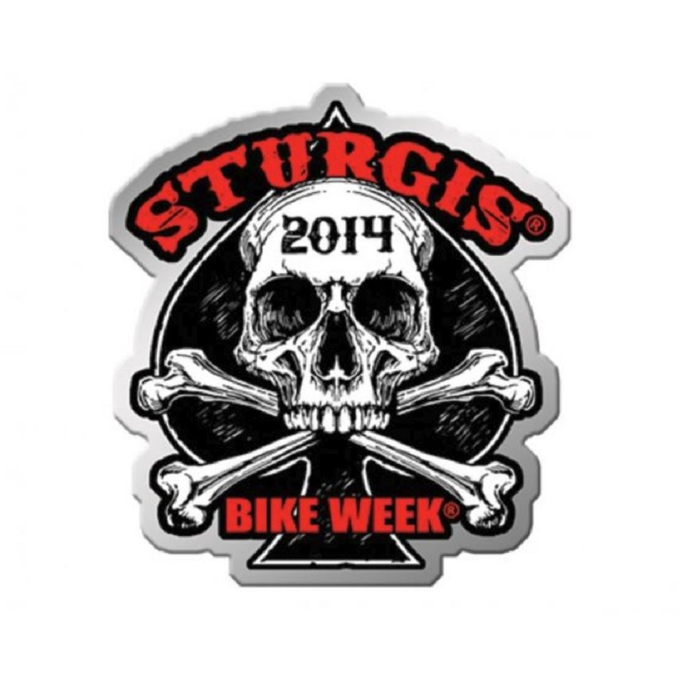 Sturgis Event Hat Lapel Vest Pin 2014 Sturgis Human Skull Bike Week