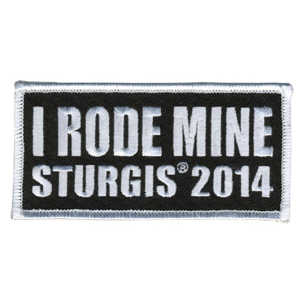 "Motorcycle Biker Uniform Patch 4"" x 2""  I Rode Mine Sturgis 2014"