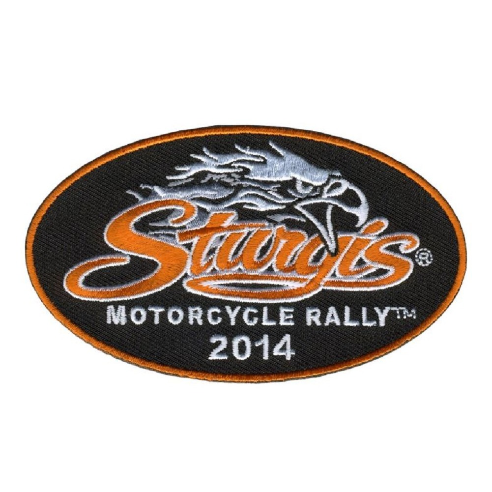 "Motorcycle Biker Uniform Patch 4"" x 2.25"" Oval Eagle Sturgis 2014"