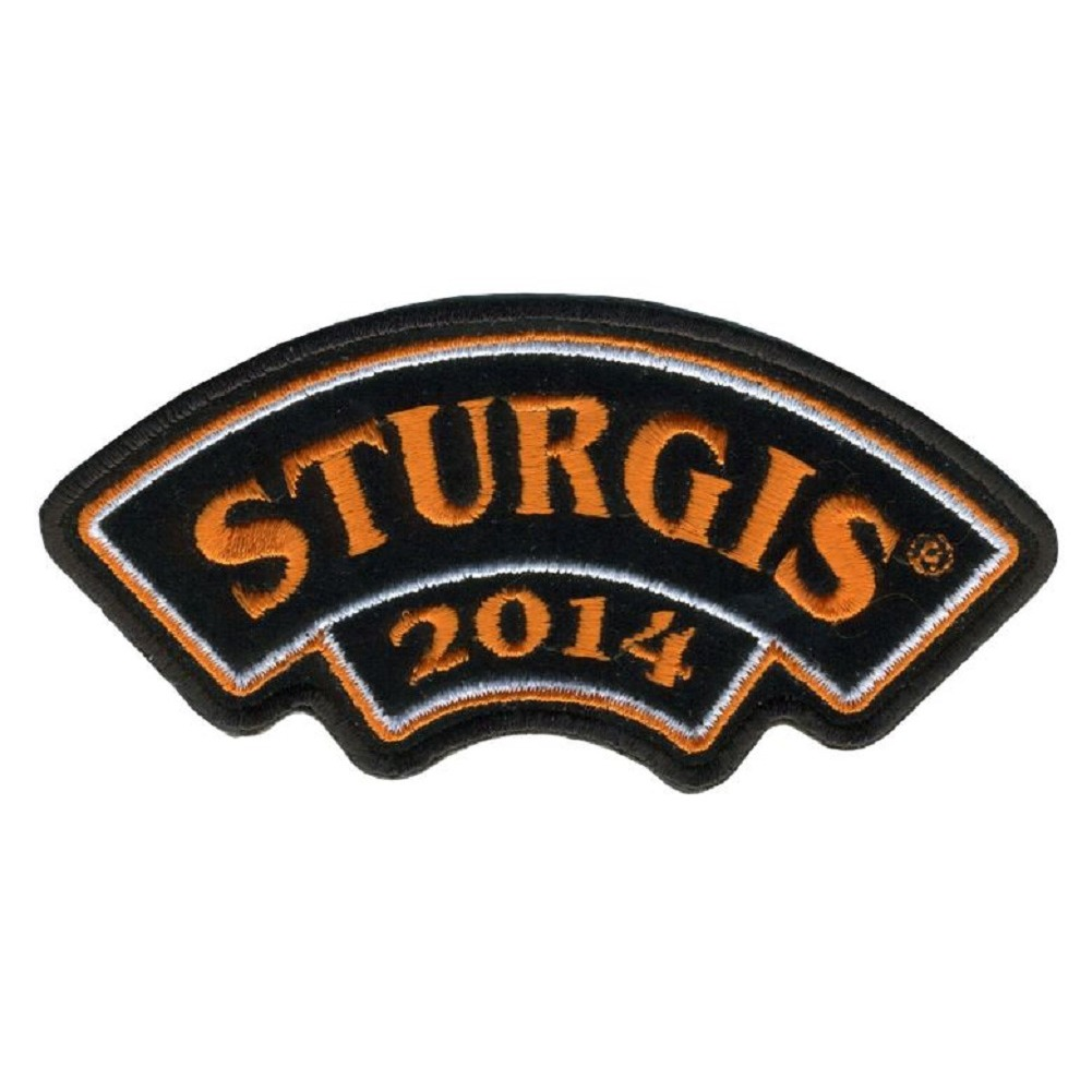 "Motorcycle Biker Uniform Patch 4"" x 2"" Rocker Bar Sturgis 2014"