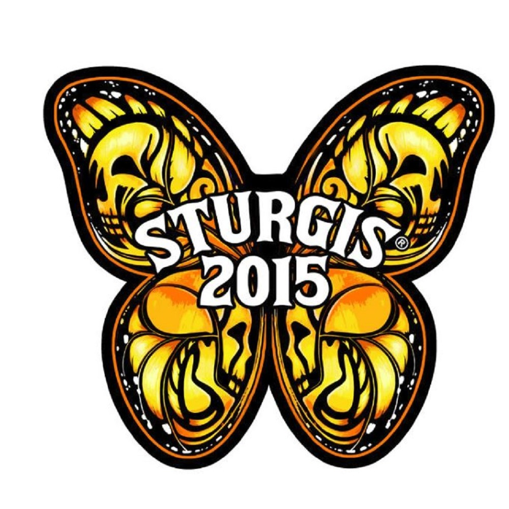 "Motorcycle Biker Uniform Patch 4"" x 2"" Butterfly Wings Sturgis 2015"