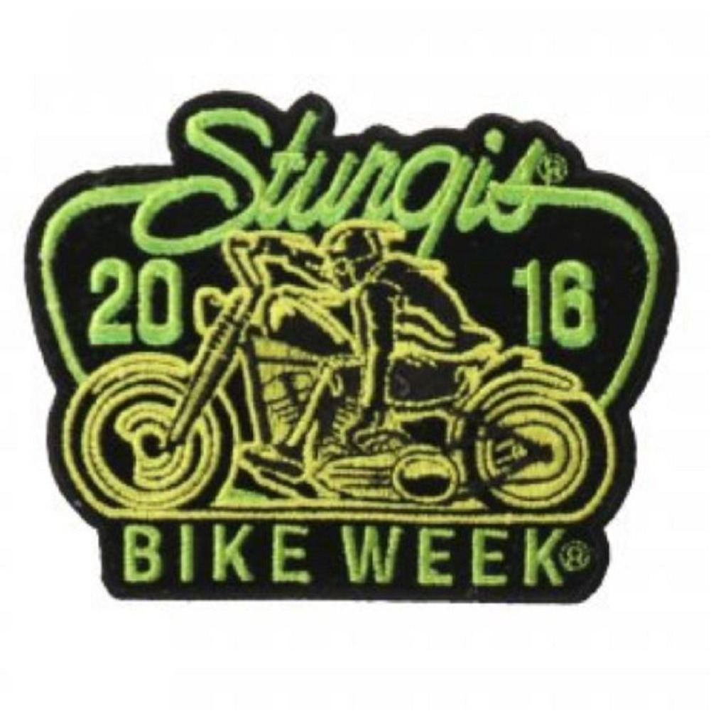 "Motorcycle Biker Uniform Patch 3.25"" x 4"" Sturgis 2016 Sturgis Bike Week"