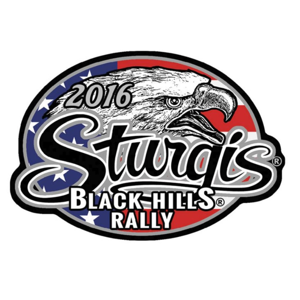 "Motorcycle Biker Uniform Patch 4"" x 2.75"" Sturgis 2016 Black Hills Rally Eagle"