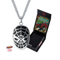 Inox Stainless Steel Marvel Pendant Chain Necklace Spider-Man Black