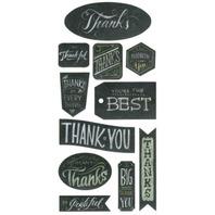 Thanks Thank You Set Chalkboard Stickers Cardmaking & Scrapbooking