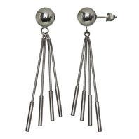 Women'S Inox Jewelry Stainless Steel Ball & Snake Chain Earrings