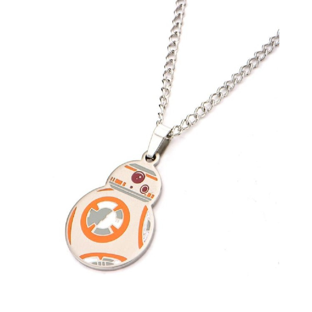 Inox Stainless Steel Disney Droid Pendant Chain Necklace Star Wars BB-8
