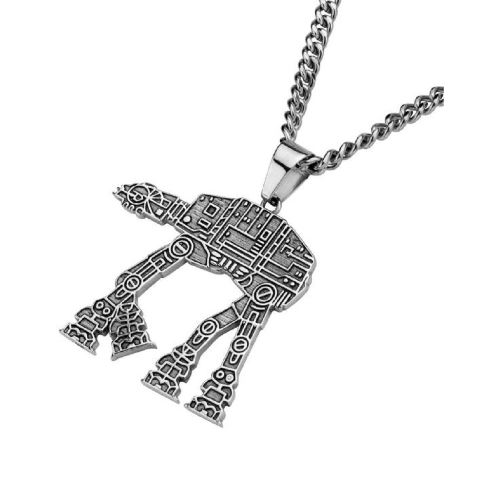 Inox Stainless Steel Pendant Chain Necklace Star Wars AT-At Walker