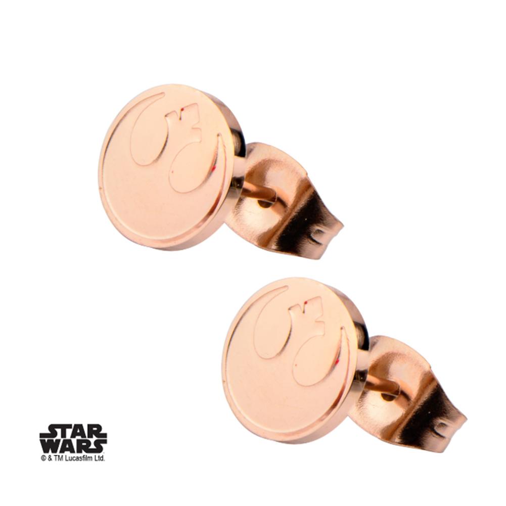 Inox Jewelry Rose Gold Jedi Symbol Star Wars Pierced Post Stud Earring