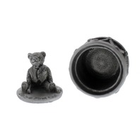 A.E. Williams Pewter Tiny Trinket Wee Box Baby's 1st Curl Teddy Bear Drum