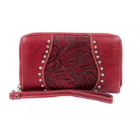 Montana West Western Inspired Tooled Leather Wallet
