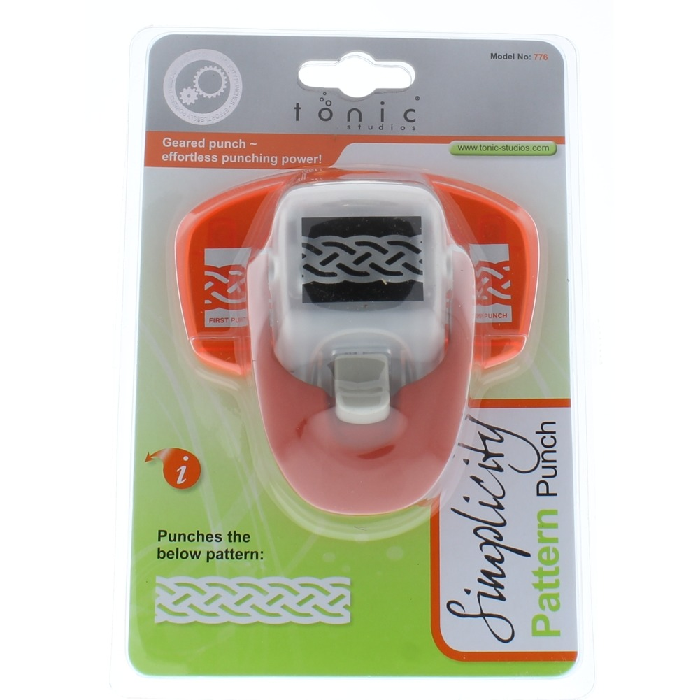 Tonic Studios Simplicity Pattern Paper Punch Celtic Strip Border Knot