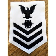 Us Navy Opticalman Rating Petty Officer First Class White Navy Uniform Patch