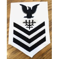 Us Navy Ocean Systems Rating Petty Officer First Class White Navy Uniform Patch