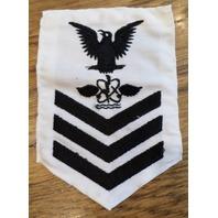 Us Navy Aviation Antisub War Petty Officer First Class White Navy Uniform Patch