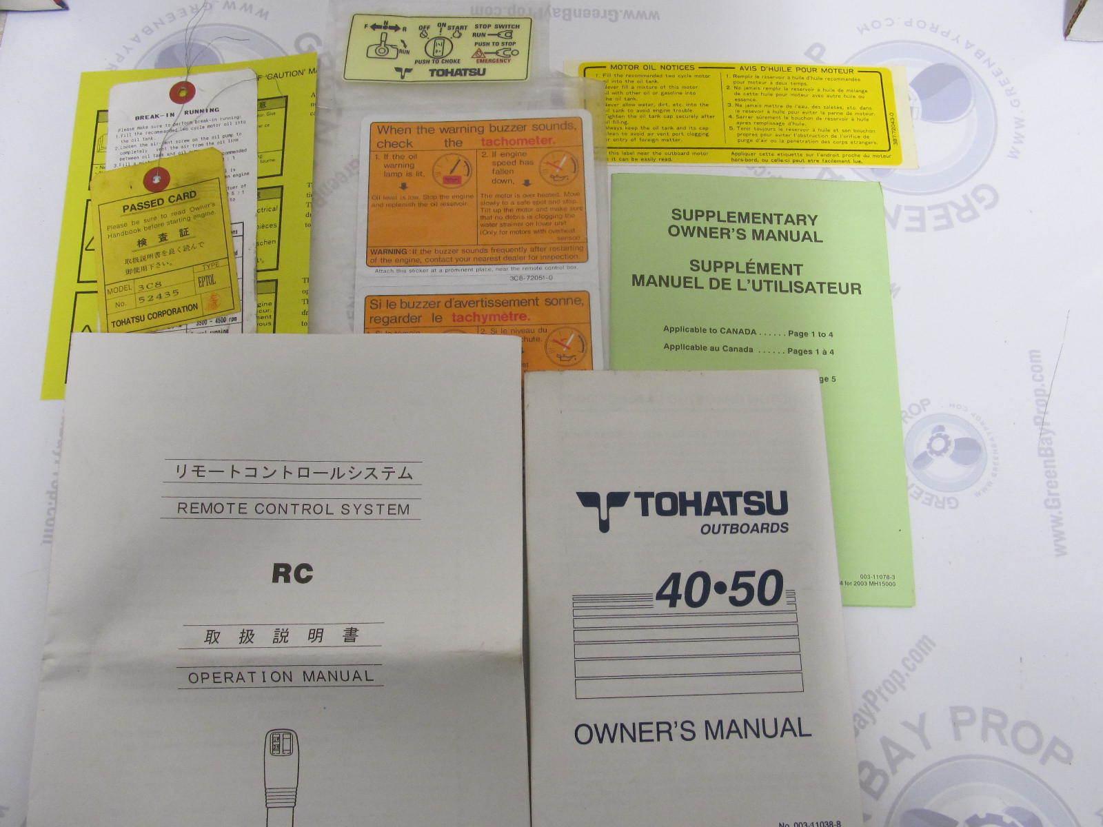 tohatsu installation manual