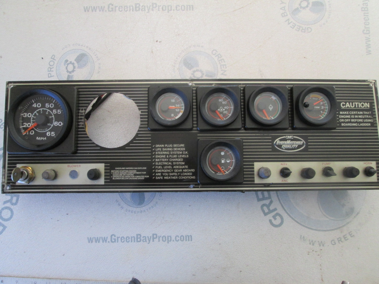 1988 Rinker V170 Dash Panel with Gauges
