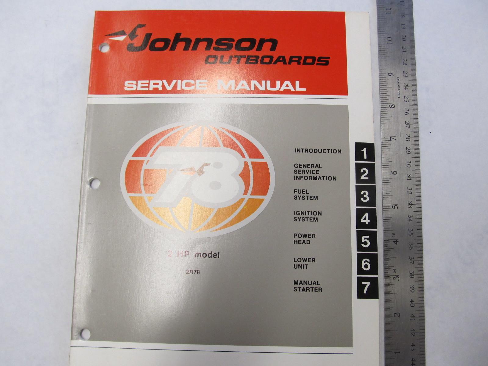 1978 Johnson Outboard Service Manual 2 Hp 2r78