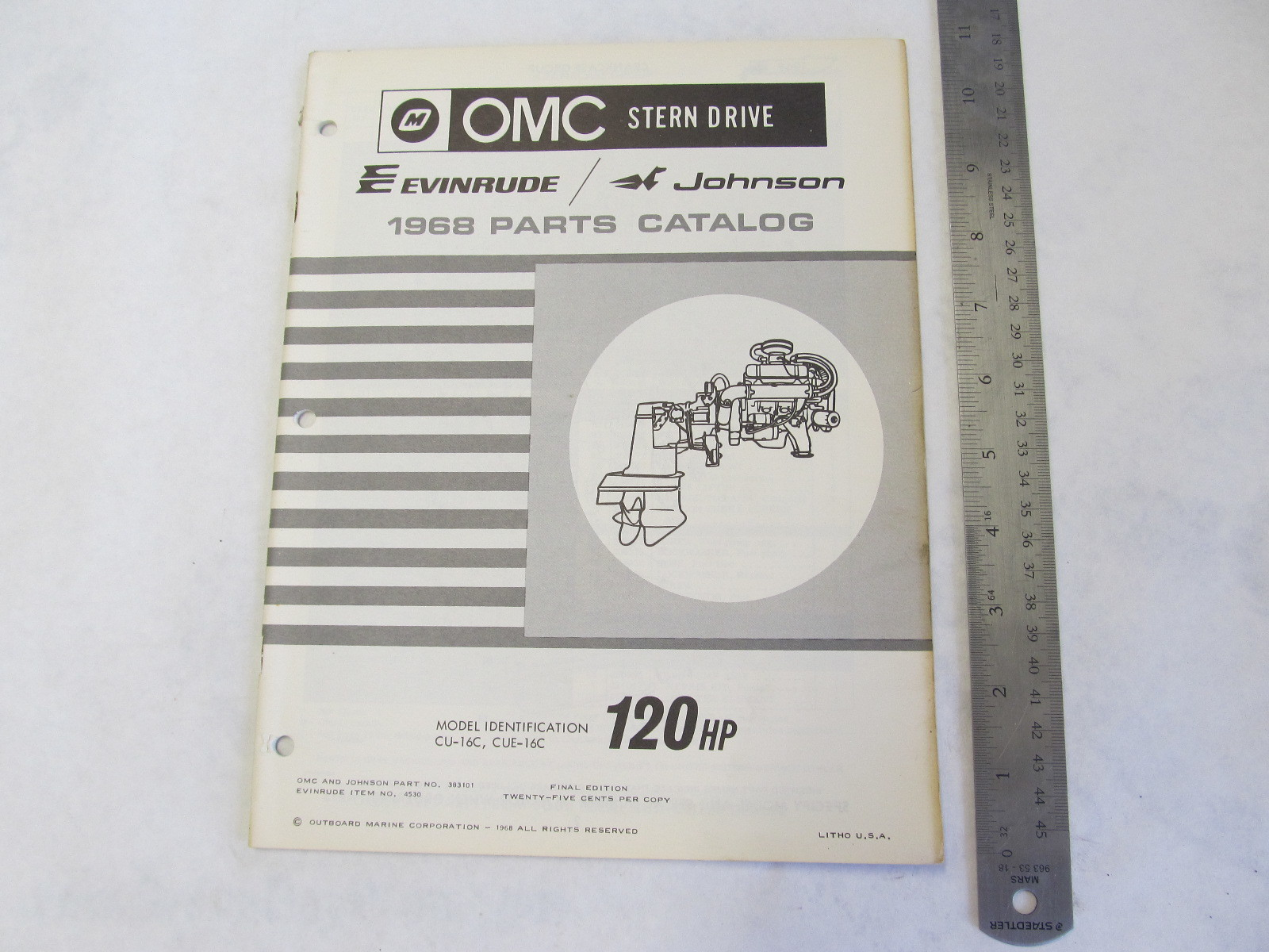 1968 Omc Stern Drive Parts Catalog 120 Hp Cu 16c Cue 16c Green Bay Propeller Marine Llc