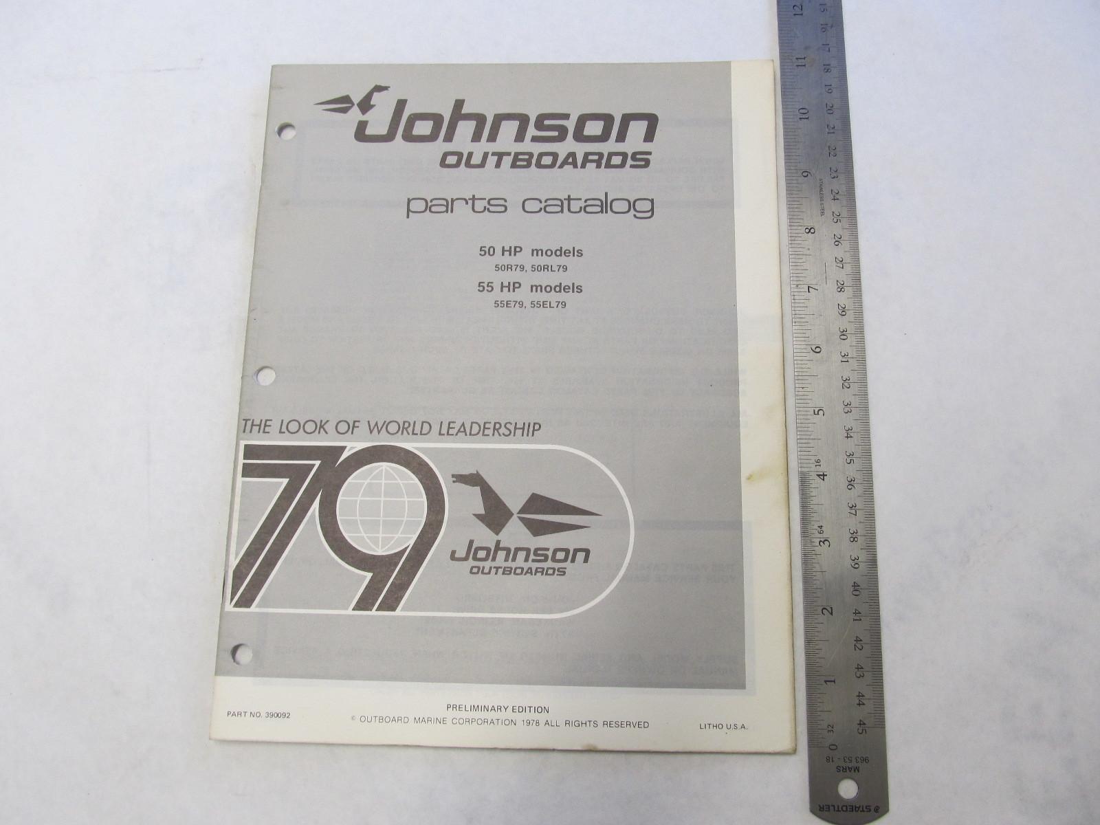 1979 Johnson Outboard Parts Catalog 50-55 HP