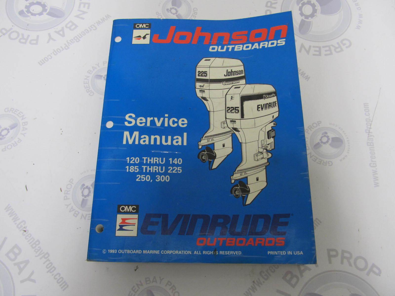 "500612 Johnson Evinrude Outboard Service Manual ""ER"" 120-300 HP ..."