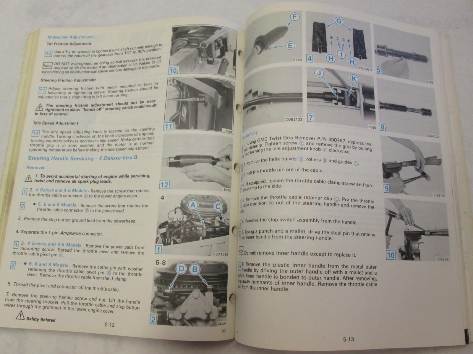 ... 1990 Evinrude Johnson Outboard Service Manual 3-8 HP ES Colt Junior