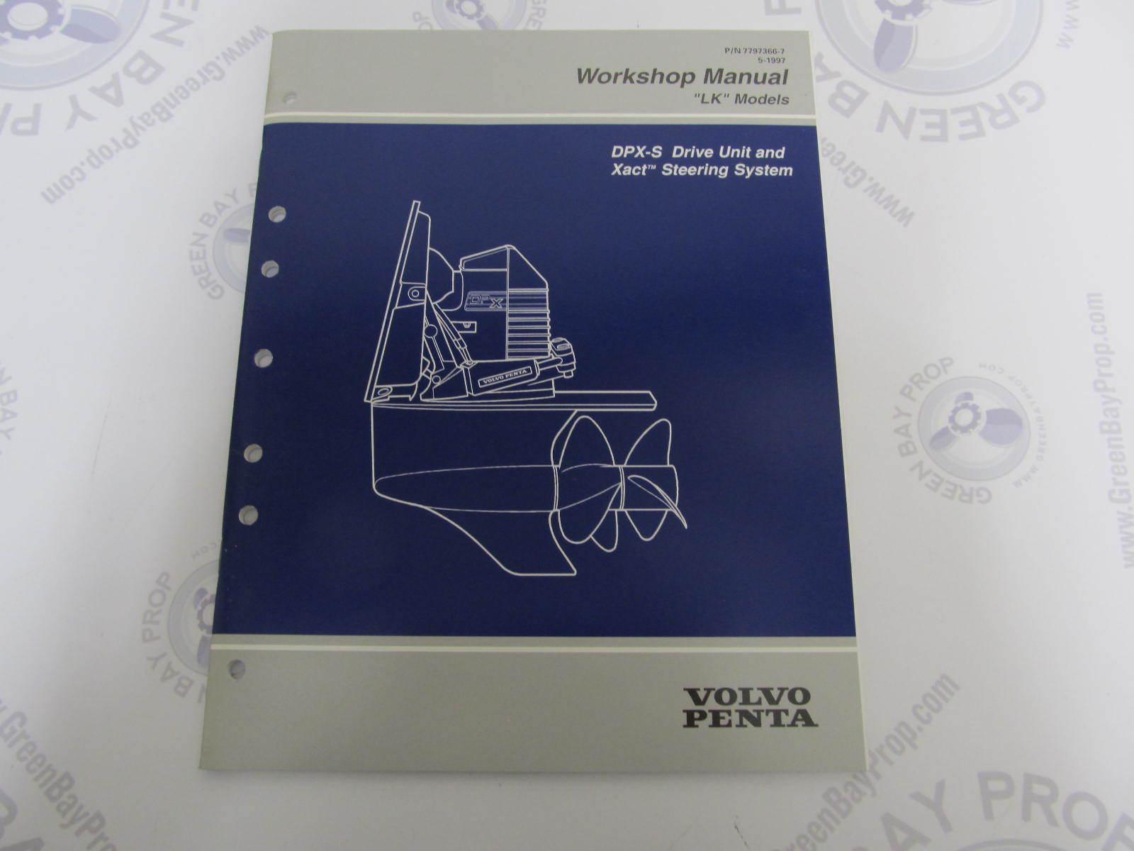Volvo Penta DPX-S Drive Unit & Xact Steering Service Workshop Manual