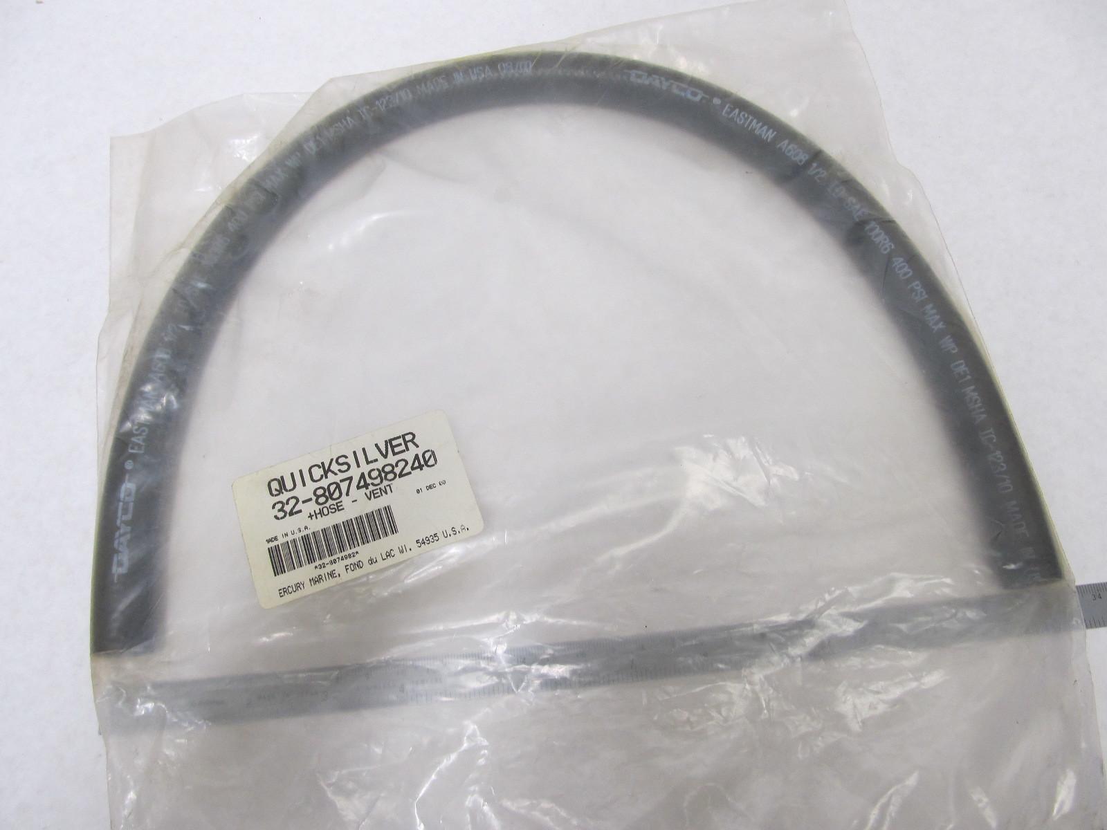32-807498240 9331512 Quicksilver Vent Hose Tubing for Mercruiser