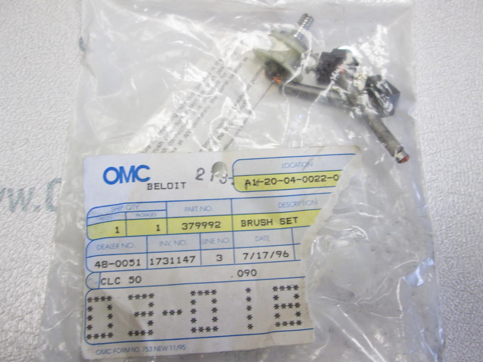 0379992 379992 OMC Evinrude Johnson Prestolite Starter Brush Set