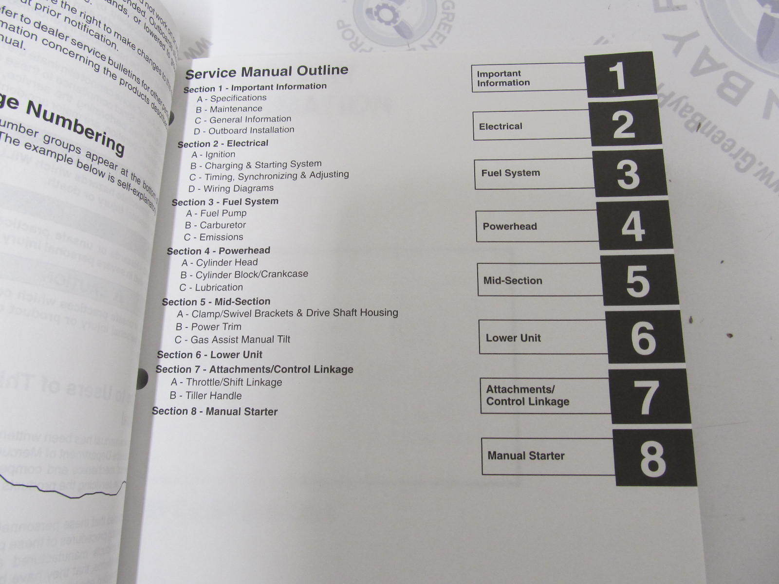 ... 90-854785R1 1998 Mercury Mariner Outboard Service Manual 25 Bigfoot  4-Stroke